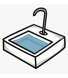 Table pour laverie avec ou sans évier
