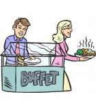 Chariot buffet chaud