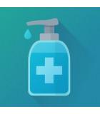 Support gel hydroalcoolique et colonne désinfection - PROCUISSON